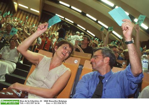 Politics / Belgium Congrès sur les accords de gouvernement Jacky Morael Isabelle Durant ECOLO CONGRESSEN OVER NIEUW REGEERAKKOORDEN Congres about the governmental agreements REPORTERS©Eric Herchaft